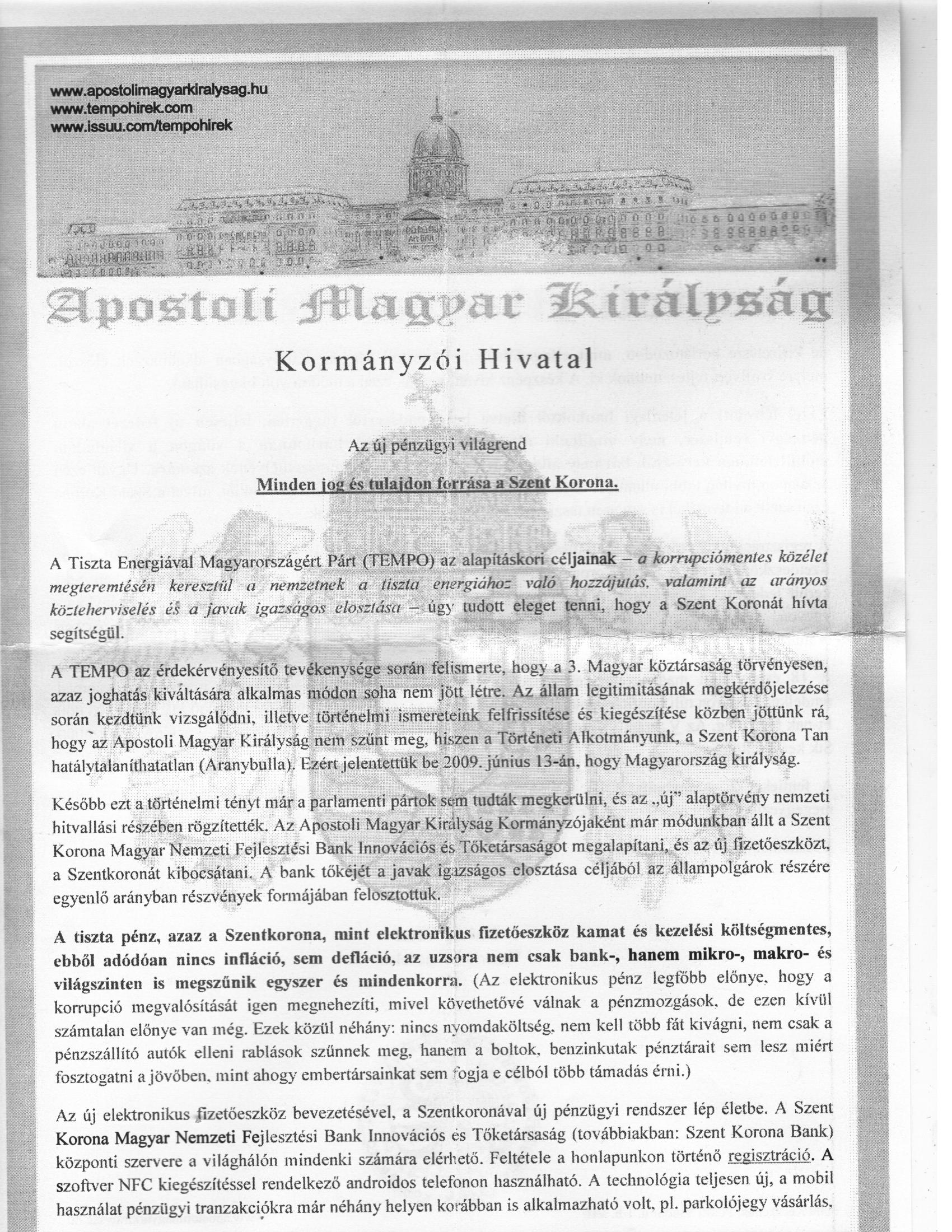Apostoli Magyar Királyság1